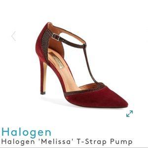 Halogen Wine Suede Leather Upper Heel Size 9 📚